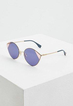 Очки солнцезащитные Fendi FF 0341/S LKS. Цвет: синий