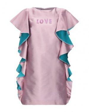 Короткое платье ALEXANDR ROGOV. Цвет: сиреневый