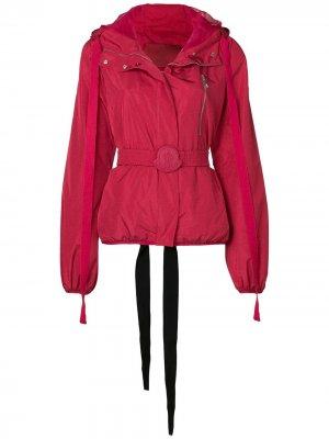 Куртка-бомбер с поясом Moncler. Цвет: красный