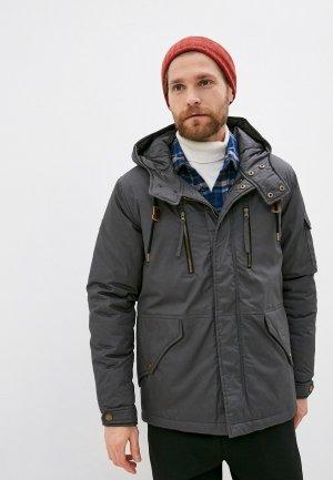 Куртка утепленная Indicode Jeans Kamil. Цвет: серый