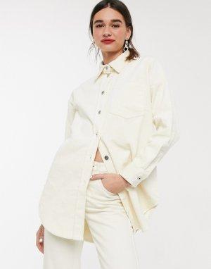 Вельветовая oversized-куртка Soaked In Luxury-Кремовый Luxury