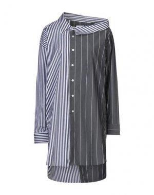 Короткое платье EACH X OTHER. Цвет: свинцово-серый