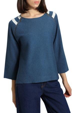 Пуловер MANODE. Цвет: indigo, white