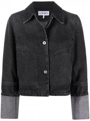Укороченная джинсовая куртка LOEWE. Цвет: черный