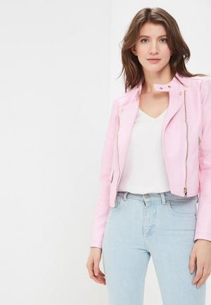 Куртка кожаная SH. Цвет: розовый