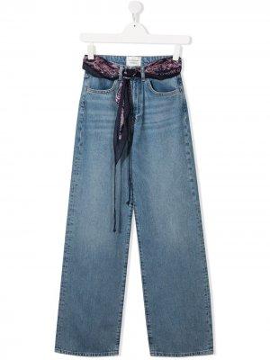 Широкие джинсы с платком Les Coyotes De Paris. Цвет: синий