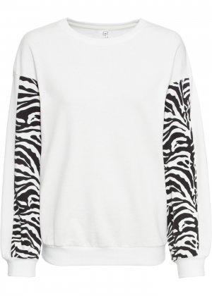 Пуловер bonprix. Цвет: белый