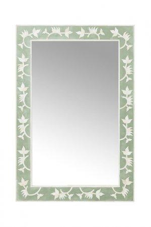 Зеркало Osaka 90х60 см Kare. Цвет: зеленый