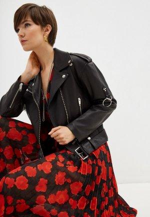 Куртка кожаная The Kooples. Цвет: черный
