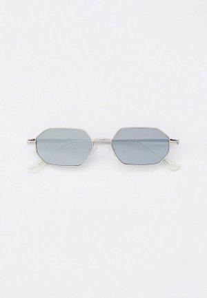 Очки солнцезащитные Jeepers Peepers. Цвет: серебряный