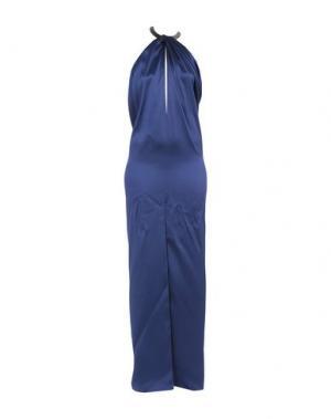 Длинное платье AZZARO. Цвет: темно-синий