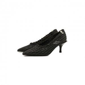 Комбинированные туфли Premiata. Цвет: чёрный