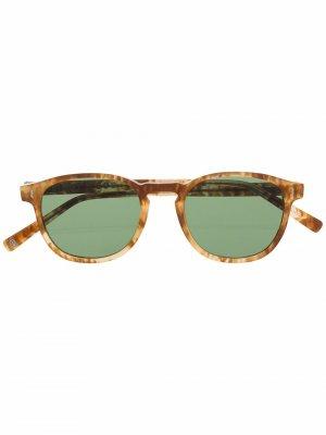 Солнцезащитные очки в круглой оправе Eight & Bob. Цвет: коричневый