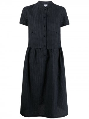 Платье-рубашка миди в клетку Aspesi. Цвет: синий