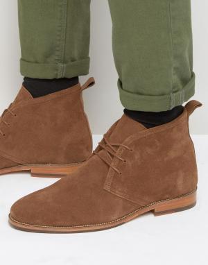 Замшевые ботинки на шнуровке Le Monsieur Bobbies. Цвет: рыжий