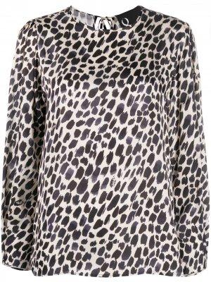Блузка с леопардовым принтом 8pm. Цвет: нейтральные цвета