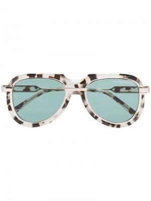Солнцезащитные очки с эффектом черепашьего панциря Calvin Klein 205W39nyc. Цвет: бежевый