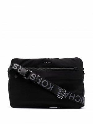 Сумка через плечо с логотипом Michael Kors Collection. Цвет: черный