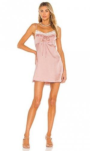 Платье abby MAJORELLE. Цвет: розовый