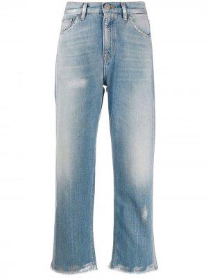 Укороченные джинсы с завышенной талией Haikure. Цвет: синий