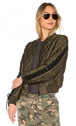 Бомбер Pam & Gela. Цвет: военный стиль