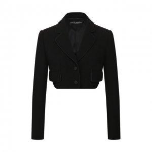Шерстяной жакет Dolce & Gabbana. Цвет: чёрный