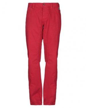 Повседневные брюки HISTORIC. Цвет: красный