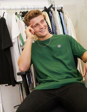 Oversized-футболка с вышитой мишенью -Зеленый цвет Lambretta