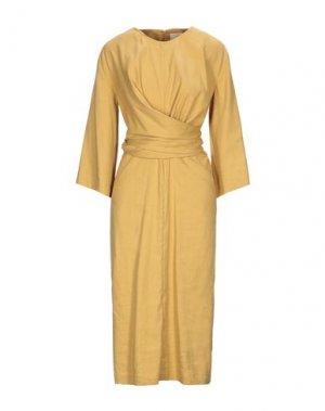 Платье длиной 3/4 ERIKA CAVALLINI. Цвет: песочный
