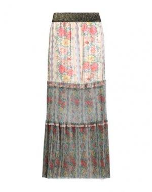 Длинная юбка ANNA SUI. Цвет: бежевый