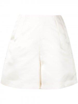 Атласные шорты Dice Kayek. Цвет: белый