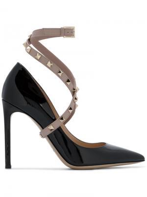 Туфли на каблуках 110 Rockstud Valentino. Цвет: черный