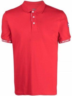 Рубашка поло с логотипом на манжетах Colmar. Цвет: красный