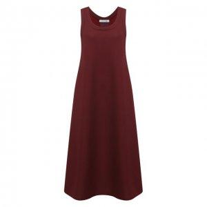 Платье-миди Lacoste. Цвет: красный