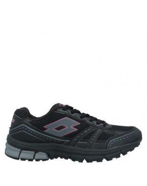 Низкие кеды и кроссовки LOTTO. Цвет: черный