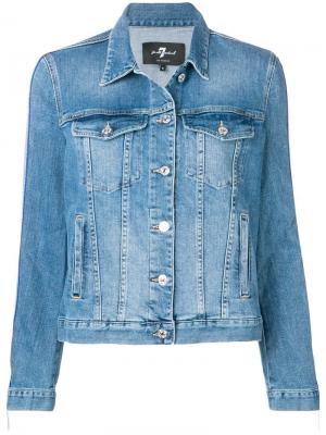 Классическая джинсовая куртка 7 For All Mankind. Цвет: синий