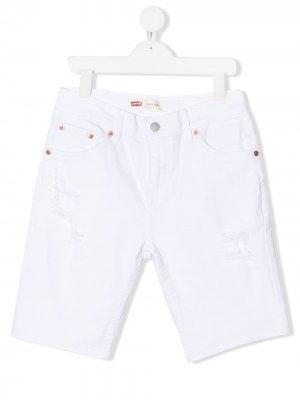 Levis Kids джинсовые шорты Levi's. Цвет: белый