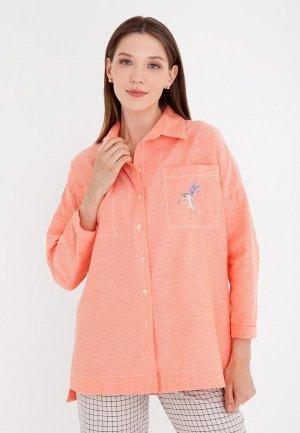Рубашка Gregory. Цвет: коралловый