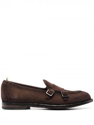 Туфли монки Ivy Officine Creative. Цвет: коричневый