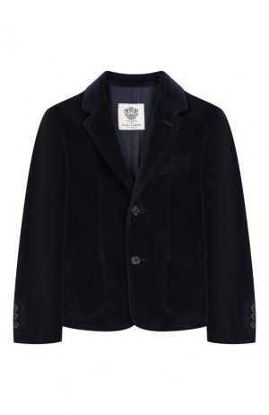 Бархатный пиджак Dal Lago. Цвет: синий