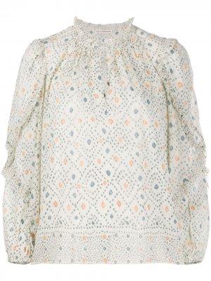 Блузка Manet с геометричным узором Ulla Johnson. Цвет: нейтральные цвета