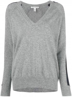 Джемпер со вставкой в полоску Autumn Cashmere. Цвет: серый