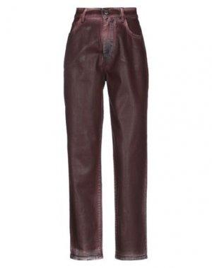 Джинсовые брюки BEATRICE. Цвет: красно-коричневый