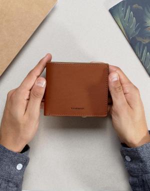 Кожаный бумажник Sandqvist. Цвет: коричневый