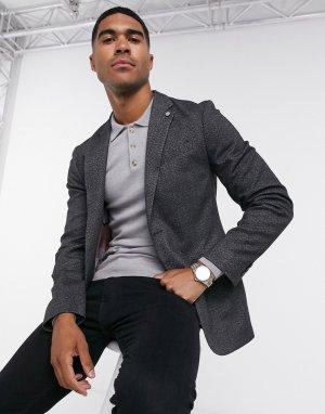 Приталенный пиджак -Серый Ted Baker