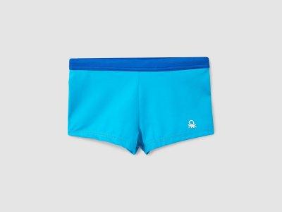Плавки с лого Benetton. Цвет: синий