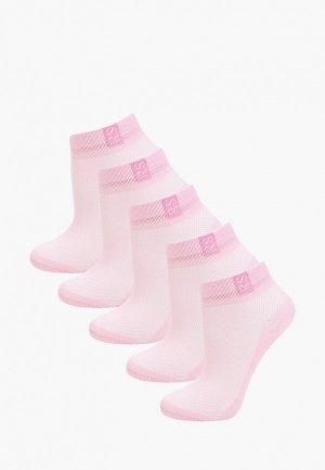 Носки 5 пар Rusocks. Цвет: розовый