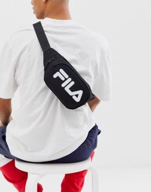 Черная сумка-кошелек на пояс с крупным логотипом Coel-Черный Fila