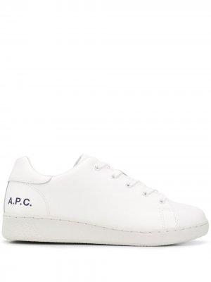 Кроссовки с логотипом A.P.C.. Цвет: белый
