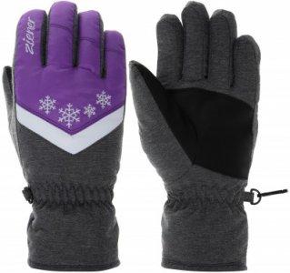 Перчатки для девочек , размер 3,5 Ziener. Цвет: фиолетовый